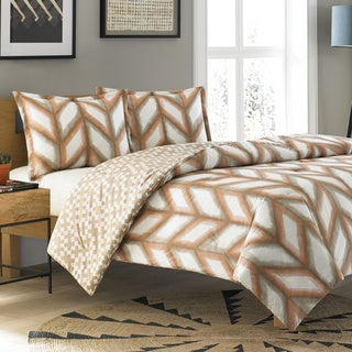 Steve Madden Cori Cotton Reversible 3-piece Comforter Set