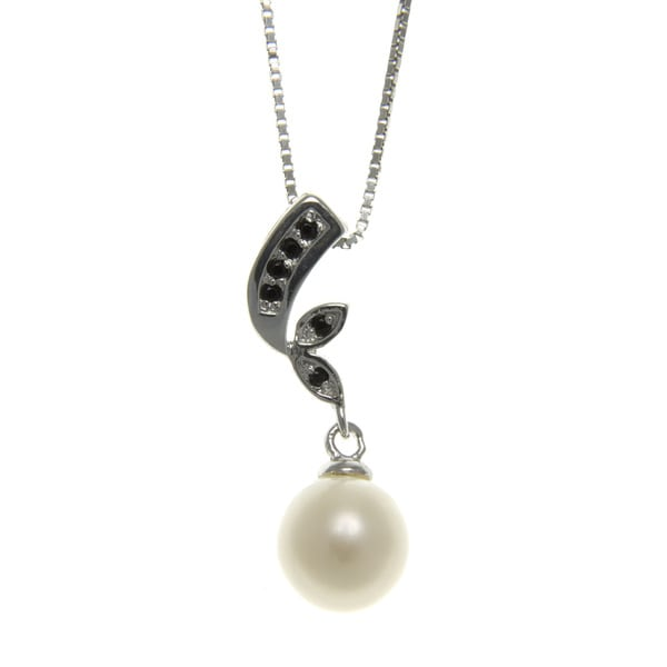 Freshwater Pearl and Spinel Cloud Nine Necklace (7-8 mm)