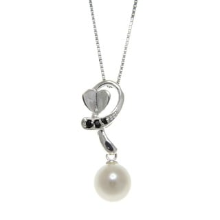 Freshwater Pearl and Spinel Cupid's Arrow Necklace (7-8 mm)