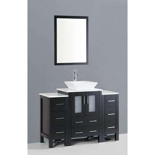 Bosconi AB124S2S 48-inch Single Black Vanity