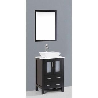 Bosconi AB124S 24-inch Single Black Vanity