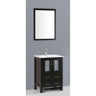 Bosconi AB124U 24-inch Single Black Vanity