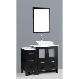 Bosconi AB130S1S 42-inch Single Black Vanity
