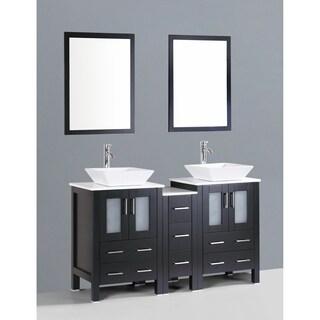 Bosconi AB224S1S 60-inch Double Vanity