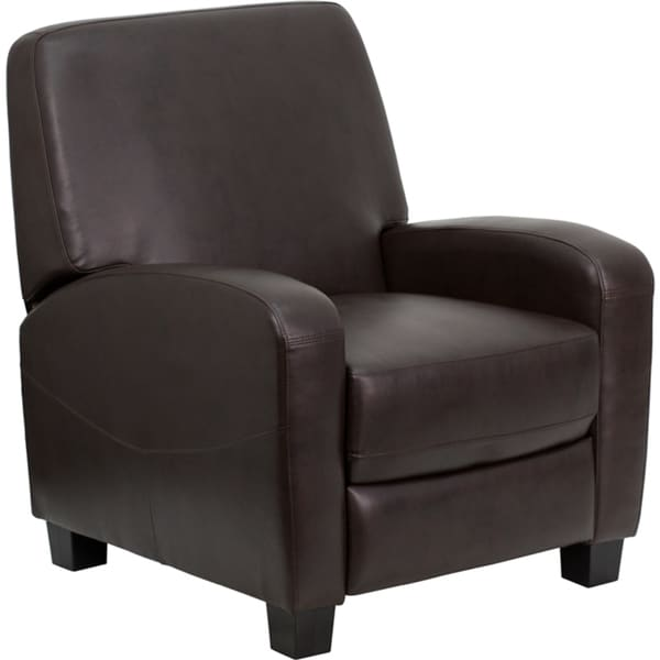Bonded Leather Brown Recliner
