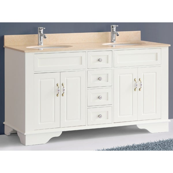 Inch Bosconi A C Classic Double White Vanity