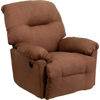 Contemporary Calcutta Microfiber Power Chaise Recliner with Push Button