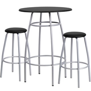 Bar Height Round Table and Stool Set