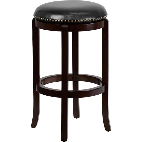 Backless 29 inch Wood Bar Stool with Leather Swivel Seat  : Backless 29 inch Wood Bar Stool with Leather Swivel Seat 108d15d3 5ef6 46ce a7da 38231238c18b600 from www.overstock.com size 600 x 600 jpeg 14kB