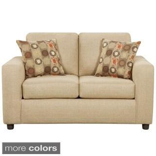 Exceptional Designs Vivid Fabric Loveseat