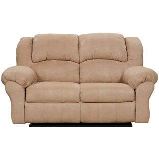 Exceptional Designs Sensations Camel Microfiber Reclining Loveseat