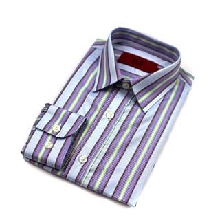 Elie Balleh Brand Boys' Striped Slim Fit Button-down Shirt