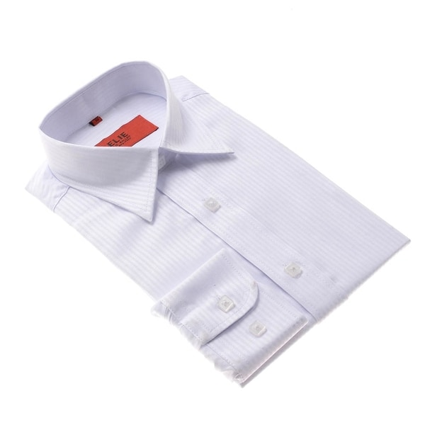 Elie Balleh Brand Boys' White Button-down Slim Fit Shirt