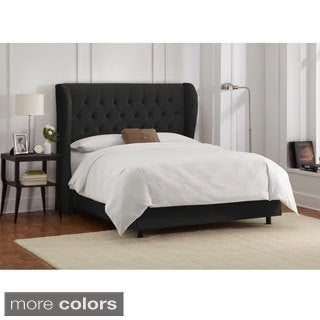 King-Size Tufted Wingback Bed