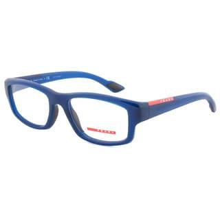 Prada Sport VPS 02E OAI-101 Rectangular Optical Eyeglass Frames, Blue/Size 54
