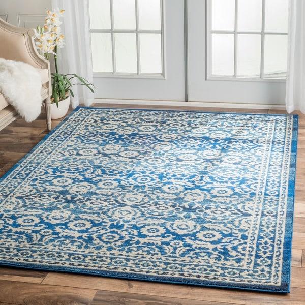 Nuloom Traditional Persian Vintage Dark Blue Rug 9 X 12