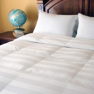 Tommy Bahama Full/ Queen PrimaLoft Damask Striped Baffle Box Comforter