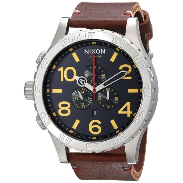 Nixon 51-30 Chrono Leather Watch (A124-019) Black/Brown