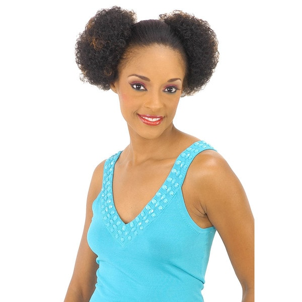 New Born Free Twin Min Afros Ponytail