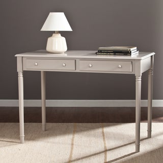 Upton Home Grisham 2-Drawer Writing Desk  Gray