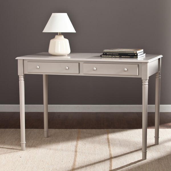 Upton Home Grisham 2 Drawer Writing Desk Gray 17232032