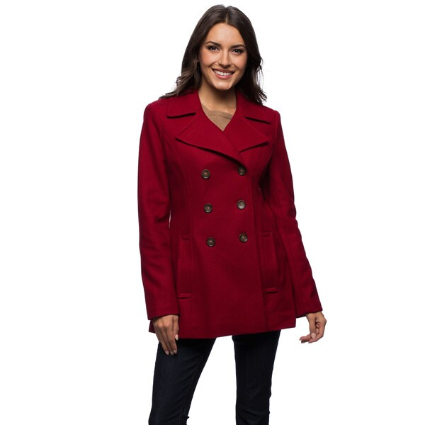 Tommy Hilfiger Women's Double-breasted Peacoat