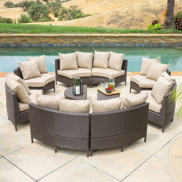 Christopher Knight Home Newton Outdoor 10 piece Brown