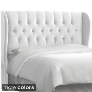 King-Size Tufted Wingback Headboard