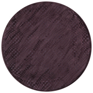 Madison Purple Round Area Rug (3'10 Round)