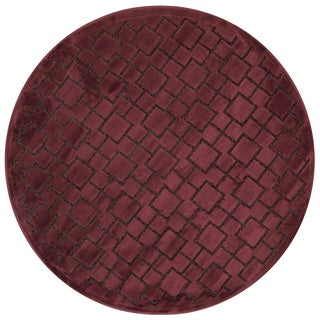 Madison Red Brick Round Area Rug (3'10 Round)