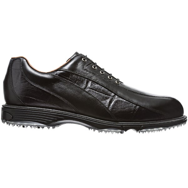 FootJoy Men's FJ Icon Wave Spikeless Black-Black Croc Print Golf Shoes