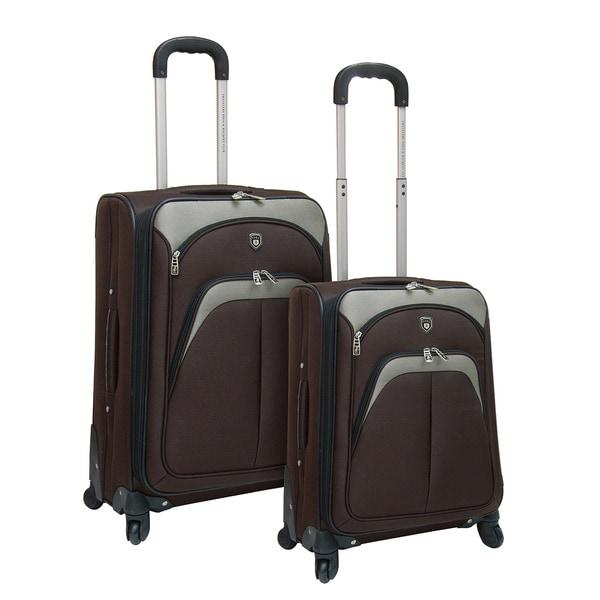 Traveler's Club 2-piece Expandable EVA Spinner Upright Luggage Set