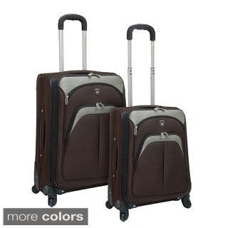 Traveler's Club 2-piece Expandable EVA Spinner Upright Luggage Set