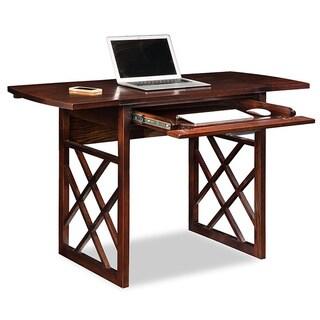 Chocolate Oak Drop Leaf Computer/Writing Desk