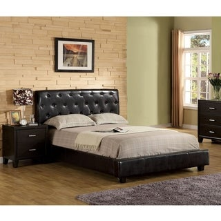 Furniture of America Pendezi Modern 2-piece Espresso Bed and Nightstand Set