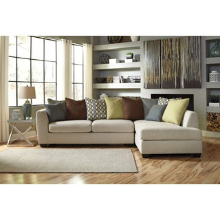 Signature Design By Ashley Beige Casheral Left-facing Chaise Sectional Sofa