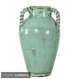 Tall 3-handle Ceramic Vase