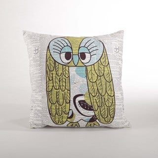 Owl Down Filled 18-inch Throw Pillow