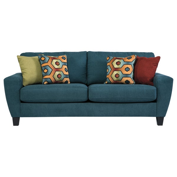 Signature Design By Ashley Sagen Teal Sofa 17232298 Shopping Great Deals On