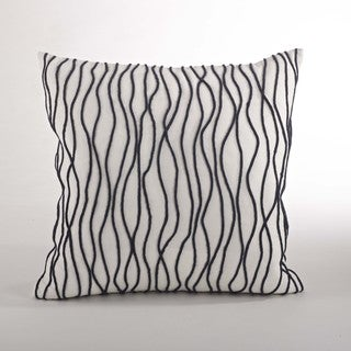 Line Down Filled 20-inch Throw Pillow
