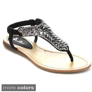 QUEEN CHATEAU ALDA-2 Women's Slingback Flat Thong Sandals