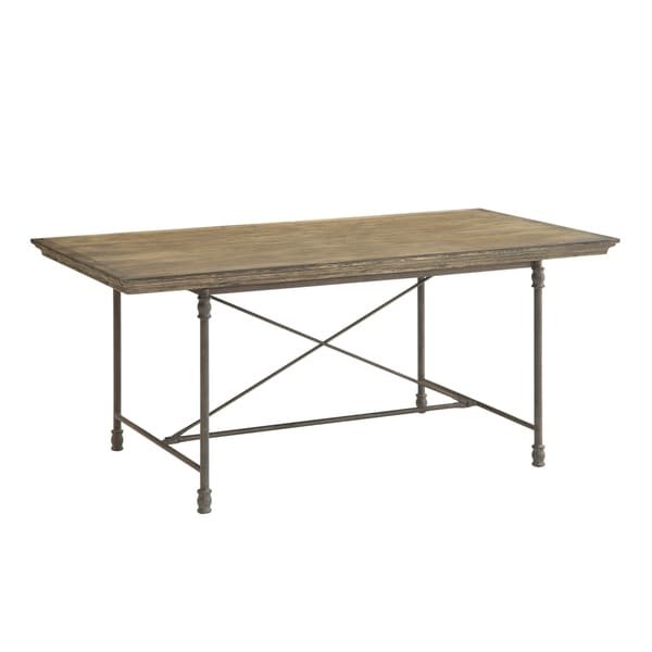 Christopher knight home pine wood and iron dining table 17232427