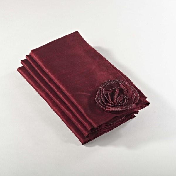 Rose Design Napkin - Set of 4