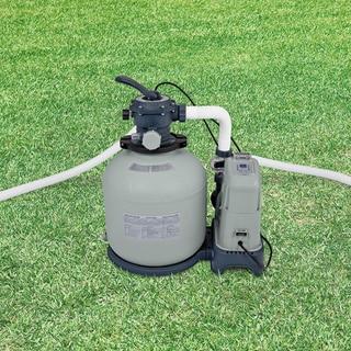 Intex Krystal Clear Sand Filter 15,000-gallon Pump and Saltwater System