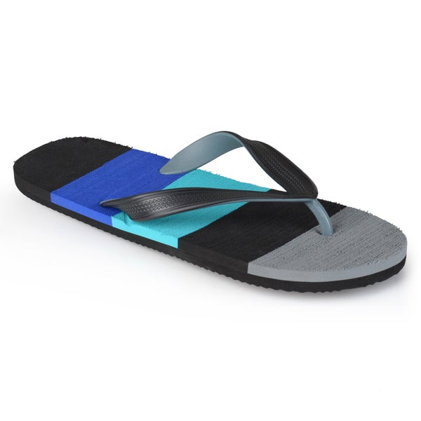 Boston Traveler Men's Striped Fashion Flip Flops