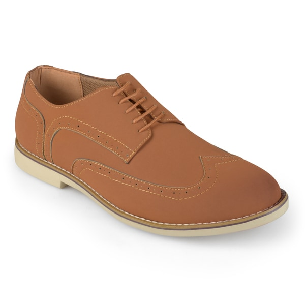 Vance Co. Men's Lace-up Wing-tip Oxfords