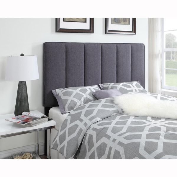 Dark Grey King/California King Size Upholstered Panel Headboard