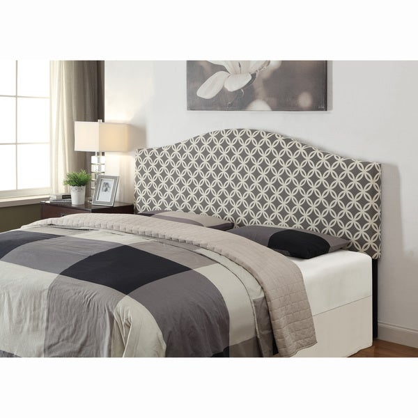 Grey Queenfull Size Upholstered Headboard Free Shipping Today
