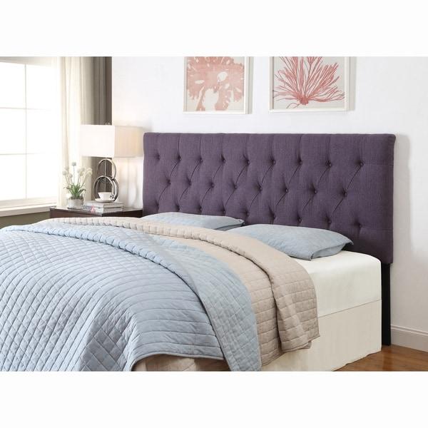 Purple Kingcalifornia King Size Tufted Upholstered Headboard Free