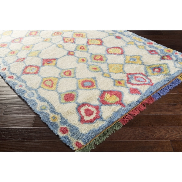 Hand-Knotted Exmouth Distressed Wool Rug (2'6 x 8')